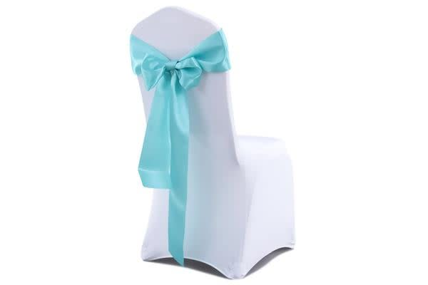 50 Pcs Wedding Party Event home Decoration Satin Chair Sashes TIFFANY