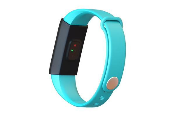 """TODO Bluetooth V4.0 Fitness Band Watch Heart Rate Spo2 Blood Pressure Ip67 0.96"""" Oled - Blue"""