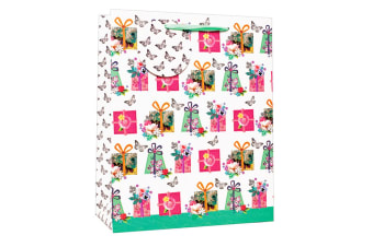 Simon Elvin Floral Design Birthday Gift Bags (Pack of 6) (Multicoloured)