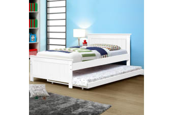 KING SINGLE Wooden Timber Trundle Bed Frame Daybed  Size Base