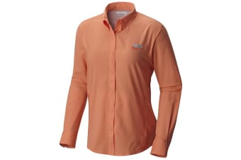 Columbia Womens PFG  Tamiami II Long Sleeve Shirt - B Peach