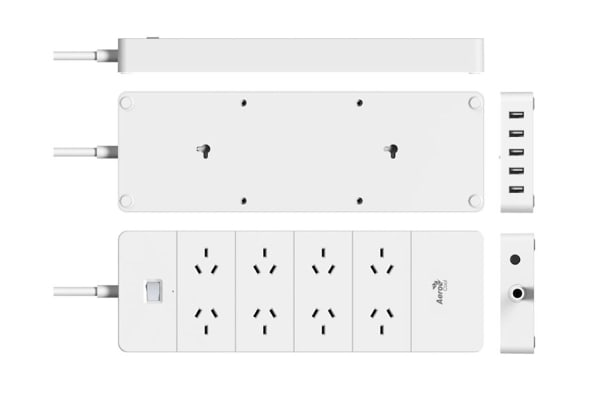 Aerocool ASA QA8A5U2 PowerStrip with 8 AC Outlet and 5 USB Charging Ports, 5V/2.4A