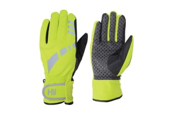 Hy5 Adults Reflective Waterproof Multipurpose Gloves (Yellow/Black)