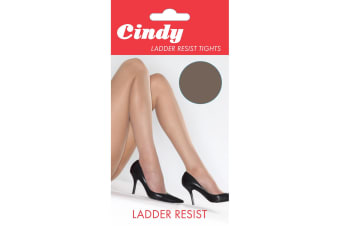 Cindy Womens/Ladies Ladder Resist Tights (1 Pair) (Storm Grey)