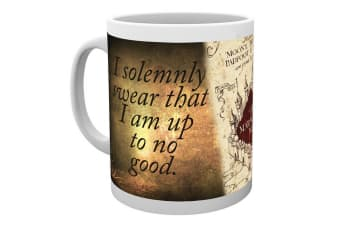 Harry Potter Official Childrens/Kids Marauders Map Ceramic Mug (White) (One Size)
