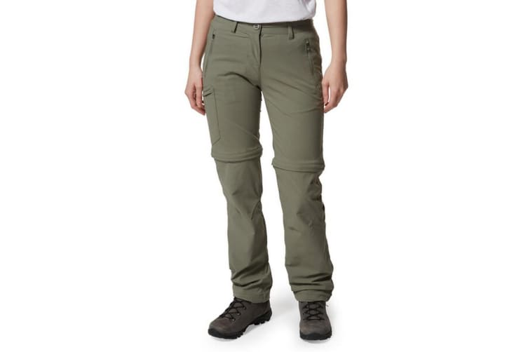 Craghoppers Womens/Ladies NosiLife Pro II Convertible Trousers (Soft Moss) (14R UK)