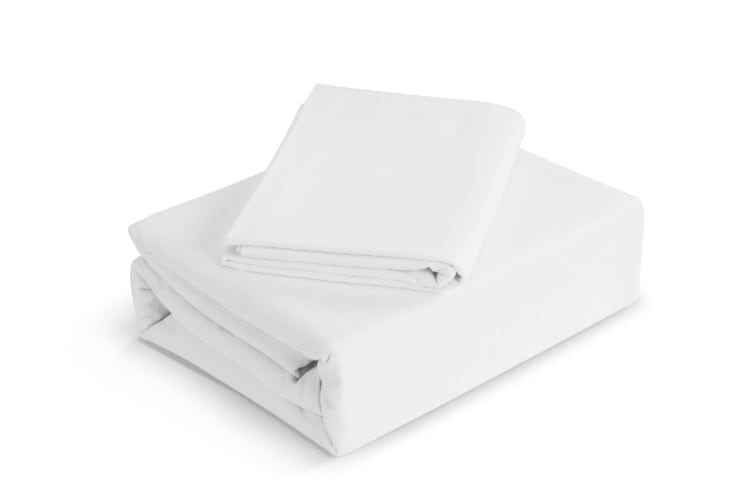 Trafalgar Belgian Linen Cotton Quilt Cover Set (King, White)