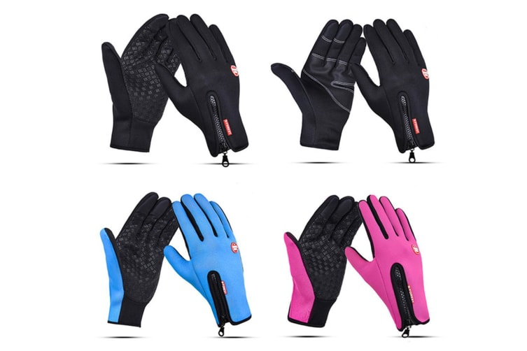 Outdoor Sport Gloves For Men And Women Skiing With Cold-Proof Touch Screen - 3 Red M