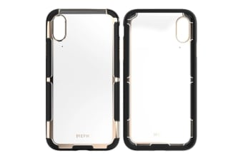 EFM Cayman D3O Case Armour Cover Mobile Protection for Apple iPhone XR Gold Trim