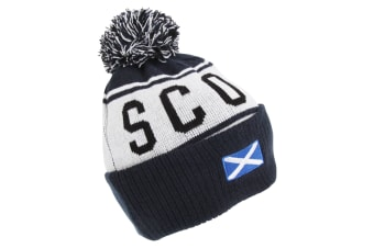 Devoted2style Adults Unisex Scotland Winter Hat (Navy) (One Size)