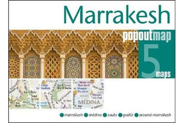 Marrakesh PopOut Map - Handy pocket size pop up city map of Marrakesh