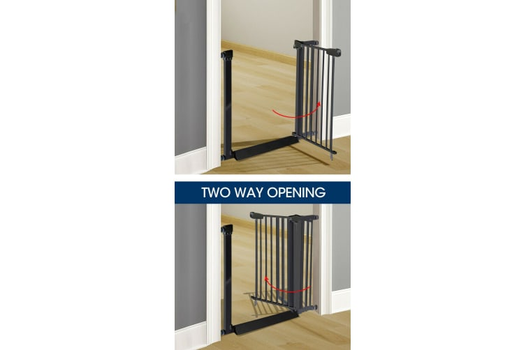 Adjustable Baby Kids Pet Safety Security Gate Stair Barrier Support Ramp White White/Black