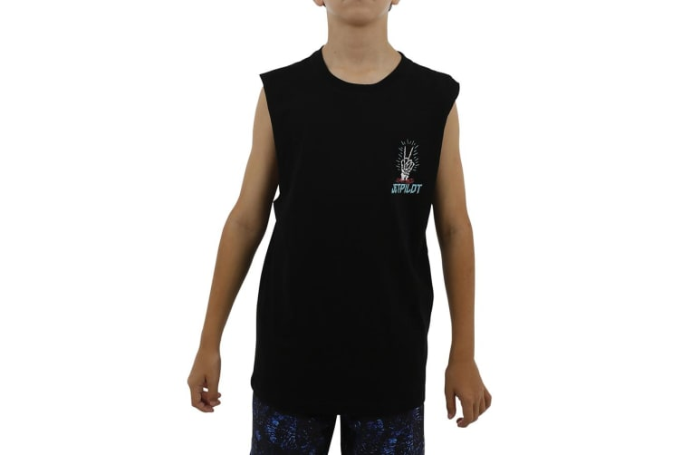 JetPilot Nuclear Youth Muscle Tank - Black - 14