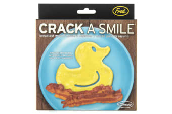 Fred Funny Side Up Rubber Ducky Breakfast Silicone Mould Egg/Pancake Ring Shaper