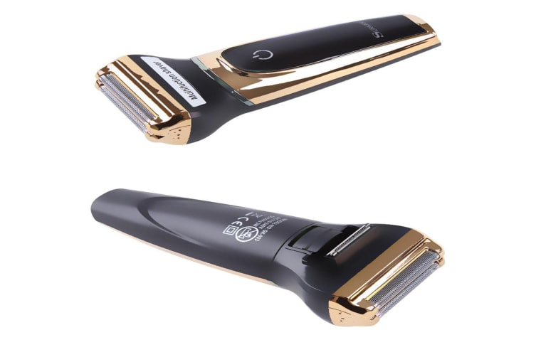 3 in 1 Electric Shaver Rechargeable Nose Hair Trimmer Razor for Men  GOLD
