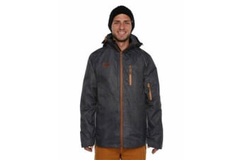 XTM Adult Male Snow Jackets Mason Mens Jacket Black Denim - L
