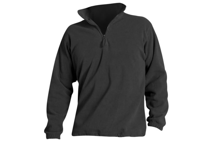 SOLS Ness Unisex Zip Neck Anti-Pill Fleece Top (Charcoal) (3XL)