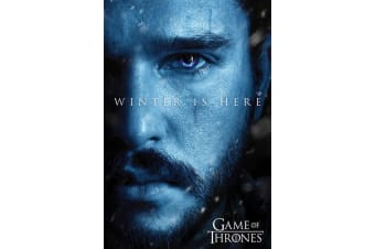 Game Of Thrones Jon Snow Winter Poster (Blue) (One Size)