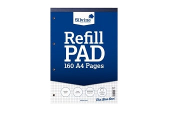 Silvine A4 Refill Pad With Squares (6 Pack of 80 Sheets) (Squared) (One Size)