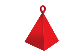 Qualatex Plastic Pyramid Balloon Weight (Red)