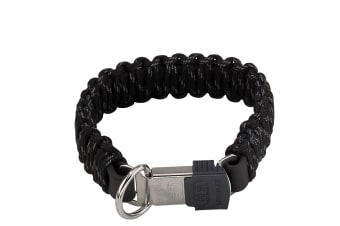 HS Sprenger Lock Closure Paracord Dog Collar (Black)