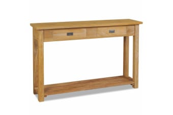 vidaXL Console Table Solid Teak 120x30x80 cm