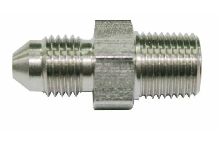 "Aeroflow 1/4"" Bsp To -3AN Straight Stainless Steel"