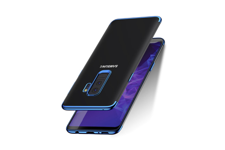 Soft Transparent Tpu Anti-Scratch Phone Case For Samsung Galaxy Blue Samsung A7 2018/A8Plus 2018