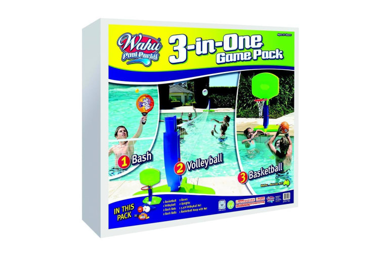 Wahu 3-in-One Pool Game Pack