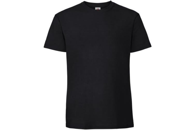 Fruit Of The Loom Mens Ringspun Premium Tshirt (Black) (4XL UK)