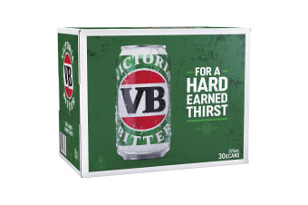 Victoria Bitter Beer 30 x 375mL Cans