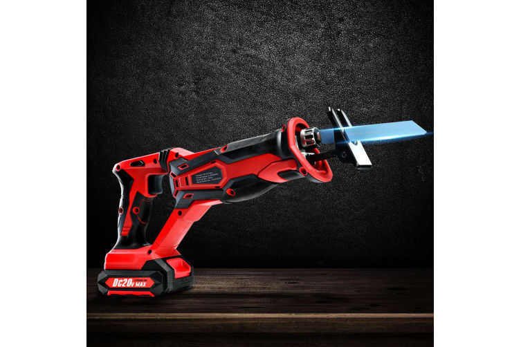 Giantz Reciprocating Saw Cordless Two Blades Included 20V Lithium Sabre Multi Purpose Tool Tools