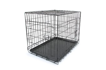 "30"" Dog Crate Cage with 2 Doors"