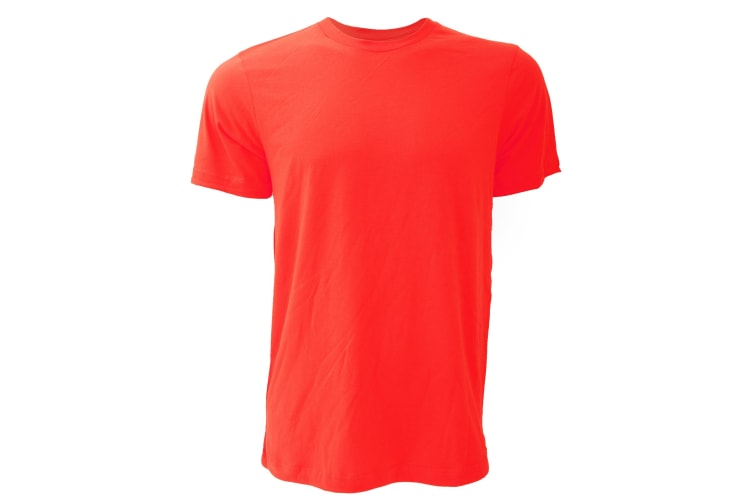 Canvas Unisex Jersey Crew Neck T-Shirt / Mens Short Sleeve T-Shirt (Red) (S)
