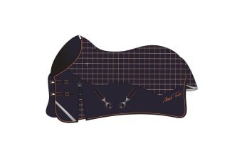 Mark Todd Mediumweight Turnout Horse Rug (Navy/Orange/Beige) (7ft)