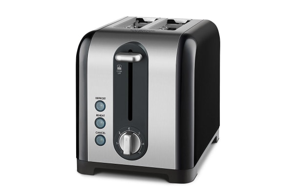 Kambrook Extra Lift 2 Slice Stainless Steel Toaster - Black (KT260)