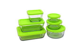 Kitchen Classics 12pc Food Storage Set Glass Container Green