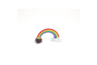 Rosewood Blue Ribbon Rainbow Pot Of Gold Ornament (Multicoloured) (One Size)