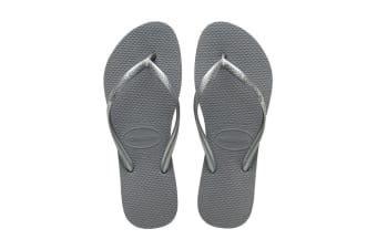Havaianas Slim Thongs (Steel Grey)