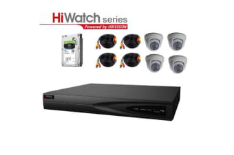 Hiwatch TVI Analog THK-2MF8T4-2T/D-E Security Kit All-In-One 8 channels Surveillance System
