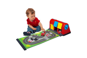 BB Junior Ferrari Roll Away Raceway Track w/LaFerrari Car Kids/Toddlers Toy 12m+