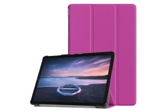 For Samsung Galaxy Tab Case S4 10.5 Purple Custer Texture PU Leather Folio Cover