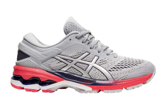 ASICS Women's Gel-Kayano 26 Running Shoe (Piedmont Grey/Silver, Size 6.5 US)