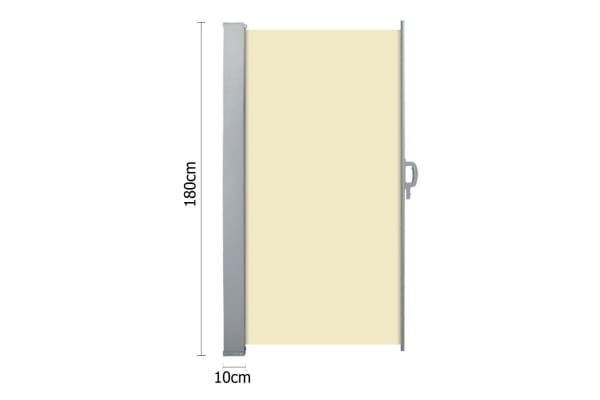 Retractable Side Awning Shade 180cm (Beige)