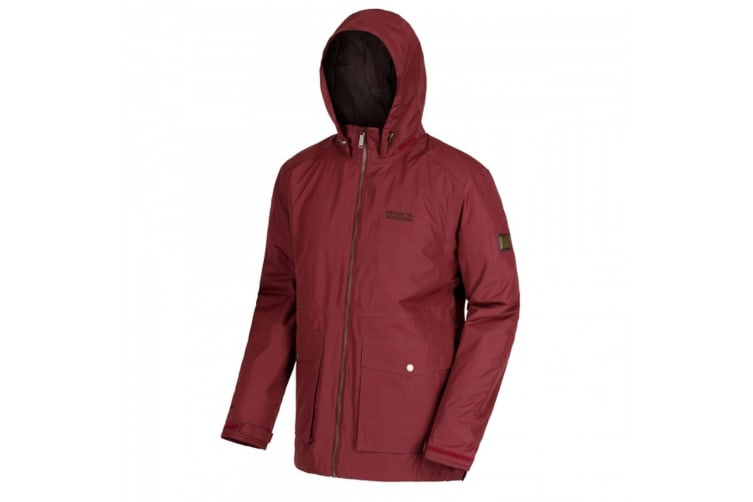 Regatta Mens Hebson Hooded Jacket (Purple Red) (XXXL)