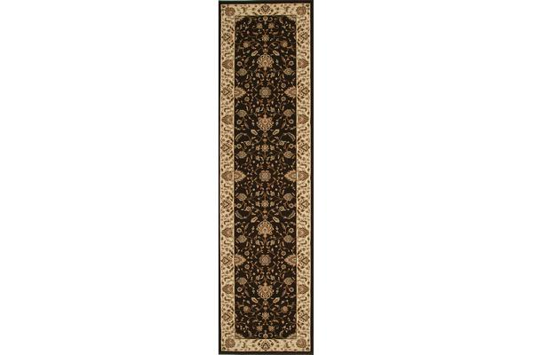 Stunning Formal Classic Design Rug Brown 400x80cm
