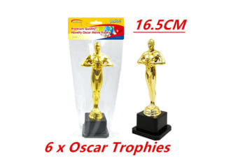 6 x Hollywood Award Gold Oscar Movie Trophy Inspired Ceremonies Party Favor VIP