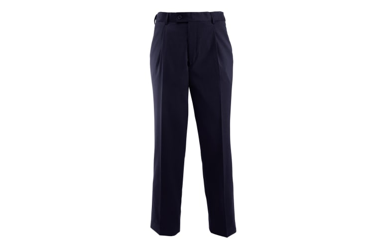 Alexandra Mens Icona Single Pleat Formal Work Suit Trousers (Navy) (40R)