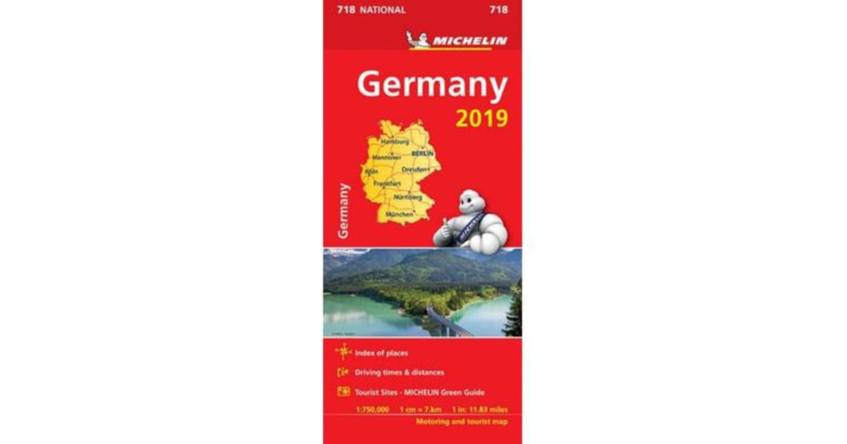 Michelin Map Of Germany.Germany 2019 Michelin National Map 718 Map By Michelin Map 9782067236493 2019 Non Fiction Travel Holidays