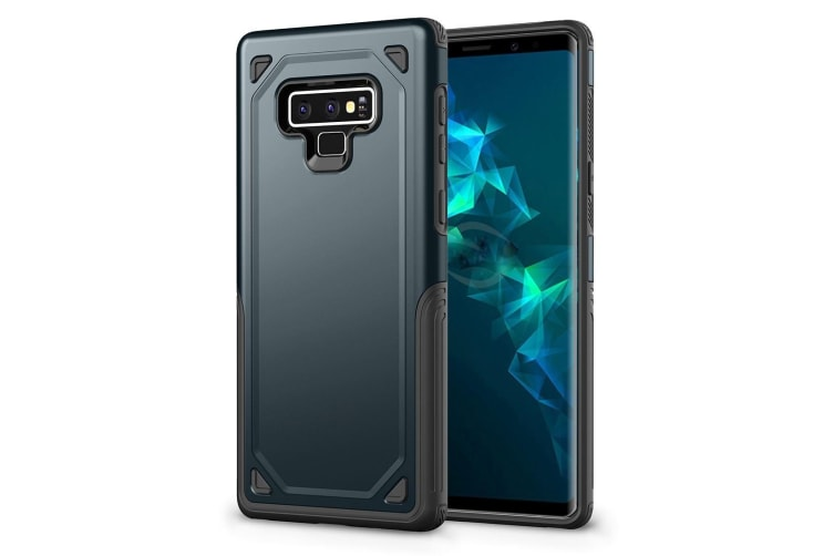info for fe77a 2dbe9 For Samsung Galaxy Note 9 Back Cover Navy Blue Rugged Armour Protective  Cover